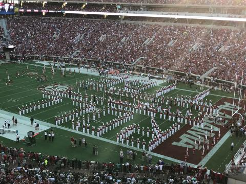 Roll Tide marching band photo